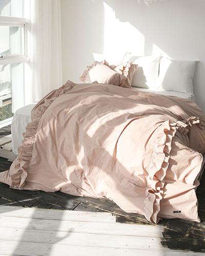 자연염색 양프릴 침구세트 핑크